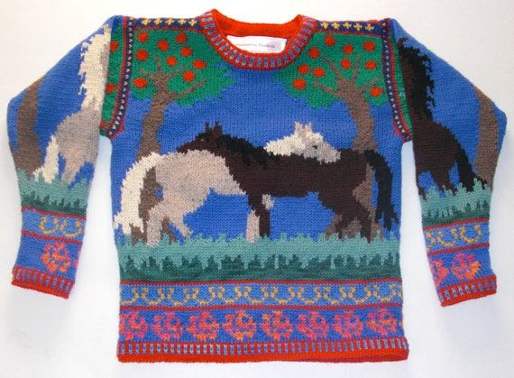 Reserved for Sisimorin Horses Sweater Seven/Eight