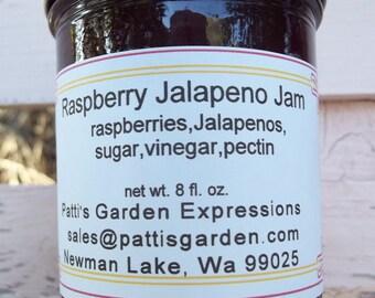 Handmade Organic  Preserves, Farm Grown, Handmade- Organic Raspberry Jalapeno Pepper Jam