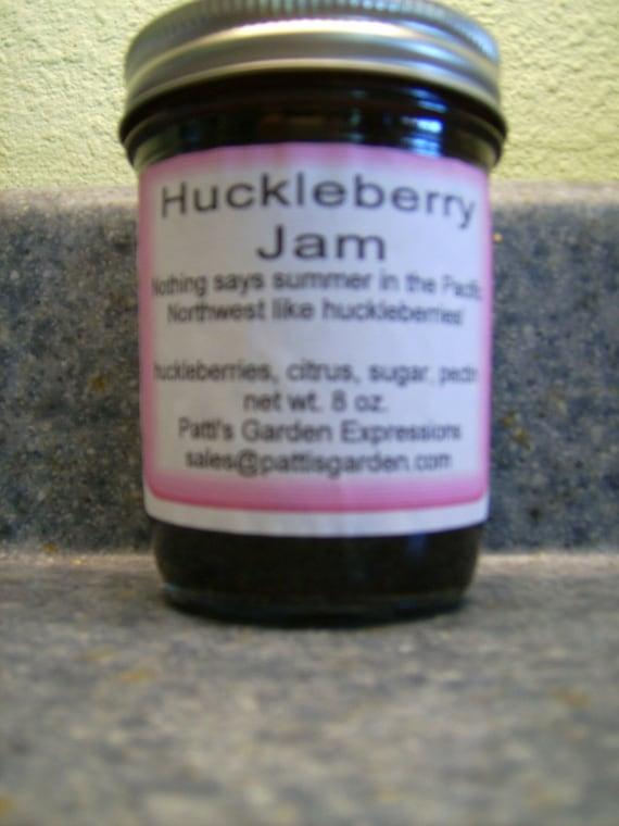 Handmade Organic Wild Harvested Huckleberry Jam