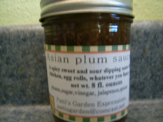 Organic Preserves,  Farm Grown, Handmade- Organic Asian Plum Sauce