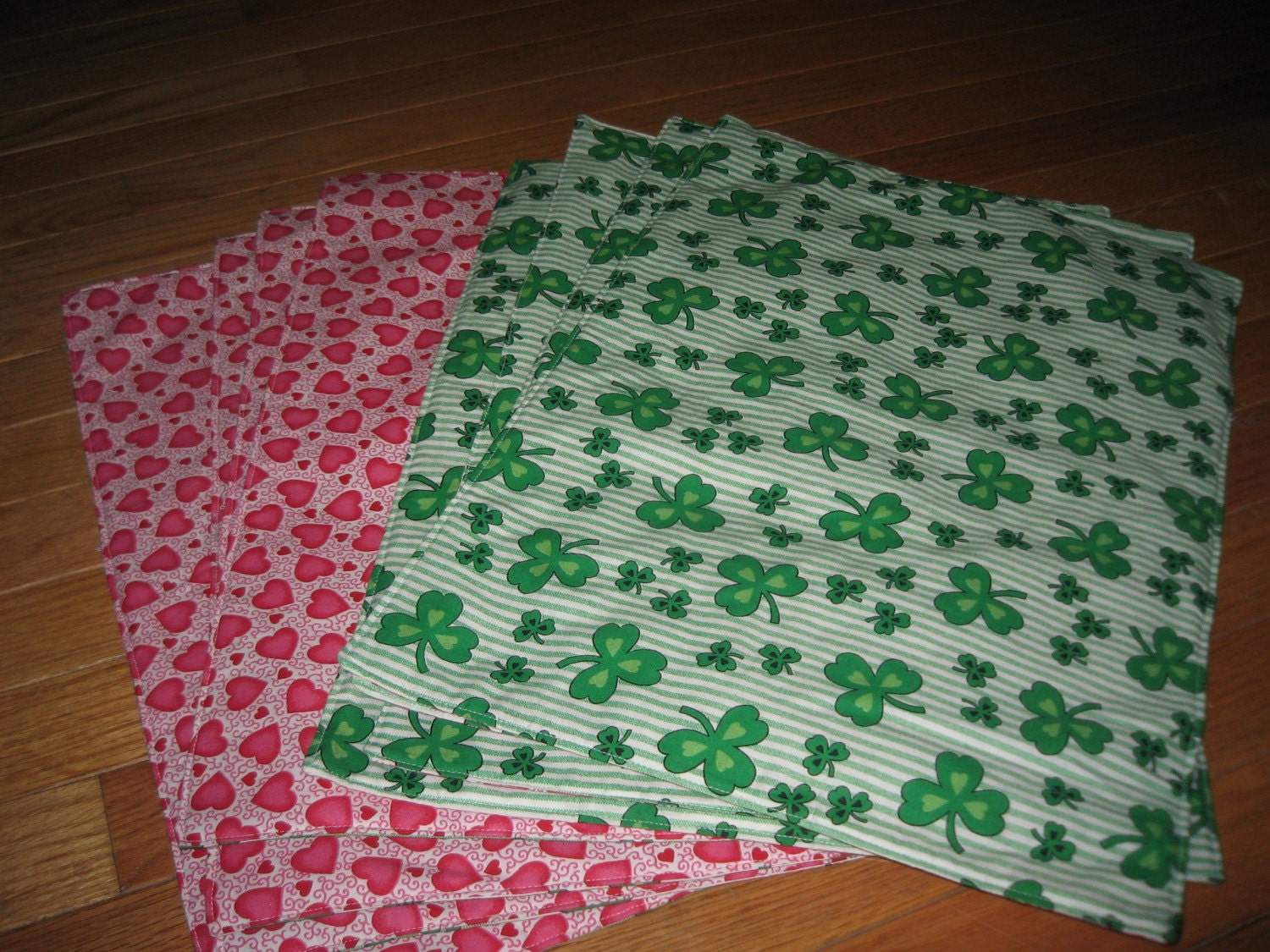 reversible valentines day st patricks day placemats