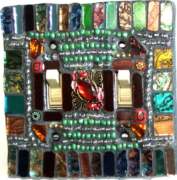 Mosaic Light Switch Plate Cover Raja Double Standard Palace Jewel