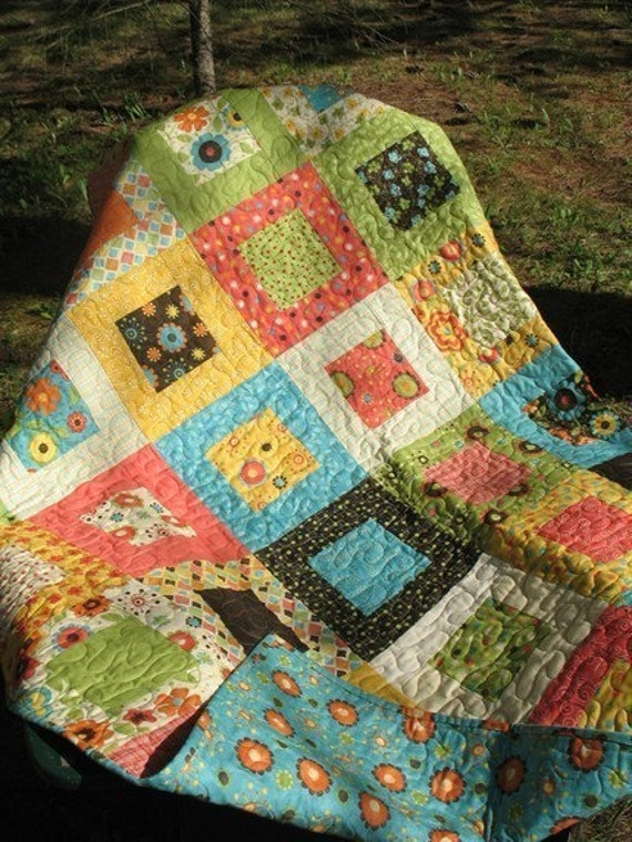 Layer Cake Quilt Patterns Easy : QUILT PATTERN Hip to Be Square..quick and easy layer cake