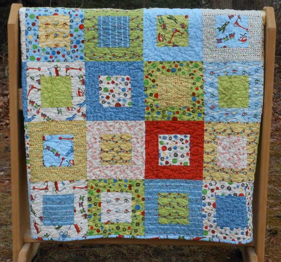 Scoot Baby or Lap Quilt-- pattern also available