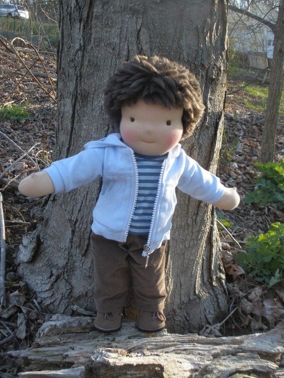16  inch boy doll made in the Waldorf Tradition