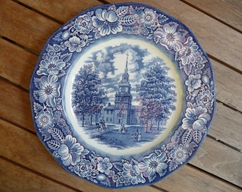Vintage Liberty Blue English Plate