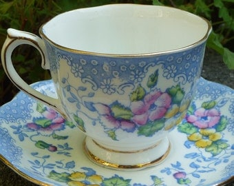 "Teacup & Saucer "" Love Lace""  from England"