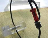 Bike spoke jewelry- Spoke bracelet with red spoke nipple