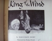 Vintage book, King of the Wind, by Marguerite Henry, Illustrated by Wesley Dennis