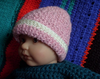 Girl's Pink Crocheted Hat, Baby, Toddler