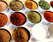 HOLIDAY SALE..1% OFF..Grill addiction kit - dry spice rubs for a grill lover.15 tins with glass lids packed in handsome aluminium box