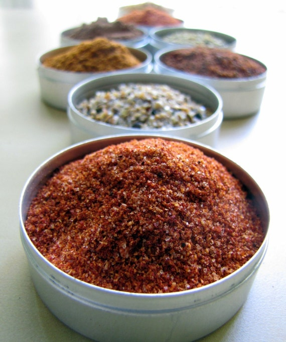 Dry Spice Rubs - (8 tins of 48mm dia)
