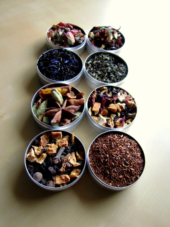 Holidays Special Tea Blends - set of 8 - for your favorite tea lover, for mom, grand mom, sister, mother in law