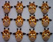 Fondant Cupcake and Cookie Toppers Edible Safari Giraffes