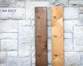 Ruler Growth Chart- Wooden, Portable, Walnut Finish