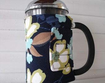 French Press Cozy - Dogwood Bloom