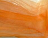 Orange Silk gauze  scarf (perfect for  Nuno Felting)