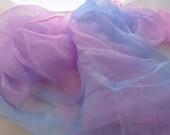 Pastel Silk gauze Scarf for Nuno Felting