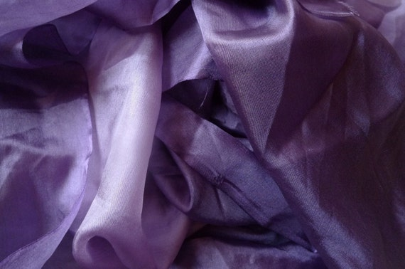 Purple mulberry silk fabric  for Nuno Felting, hand made flowers, quilting or clothes....
