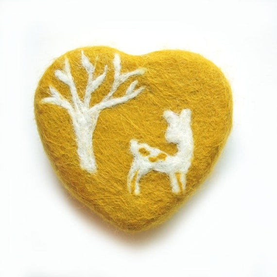 Lovely Fawn  (Felted Oatmeal Milk and Honey  Soap)