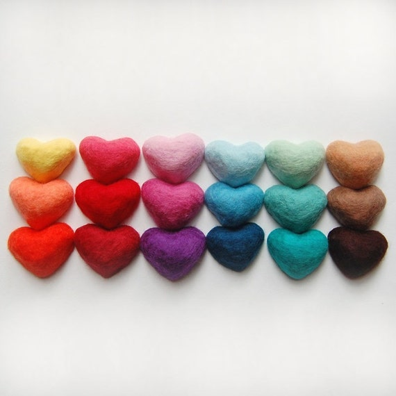 Set of 18 Hearts (Felt Soaps) MADE TO ORDER