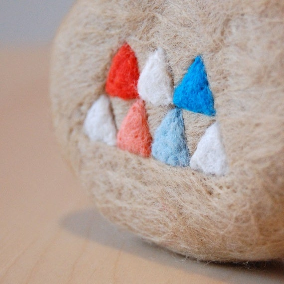 Geometry (Felted Natural Soap)