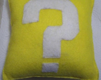 Super Mario Question Mark Block Plushie