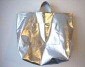 Silver Foil Tote