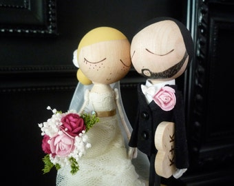 Wedding Cake Topper with Standard Dress - MilkTea