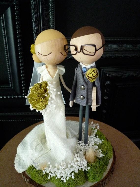 Wedding Cake Topper With Custom Wedding Dress Custom