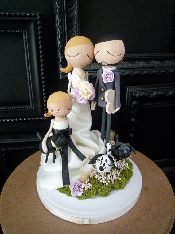wedding cake toppers with children items similar to family wedding cake topper with custom 26629