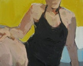 """Yellow bather: Matted 11x14"""" Archival Print - Signed"""