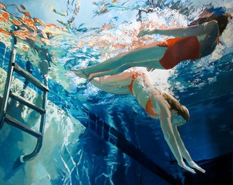 """Dive in,Float: 32x40"""" Archival Print - Signed Limited Edition"""