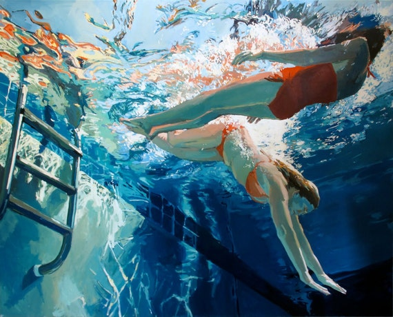 """Dive in, float: 11x14"""" Archival Print - Signed"""