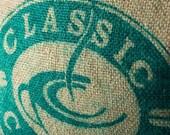 Classic Coffee - Velvet and Burlap Coffee Sack Pillow