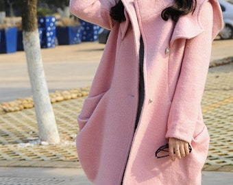 New / hooded coat