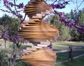 Wooden Helix Spiral Wind Spinner