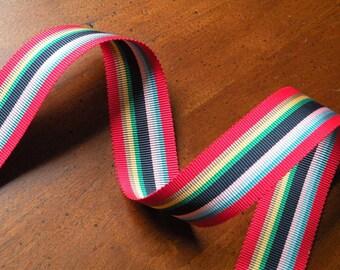 Vintage Rainbow striped Grosgrain Ribbon