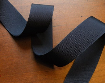Navy Grosgrain Ribbon Vintage