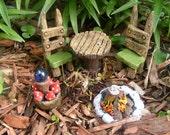 Fairy miniature oudoor porch set accent for fairy houses or planter accents jillians originals