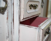 Pale Pink Shabby Musical Boudoir Treasure Chest