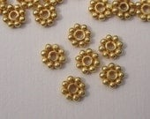50 pcs 3 mm 24K vermeil Daisy spacers - bulk buy