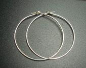 Bali Artisan, Sterling Silver earring Hoops, 35mm -  4 pcs