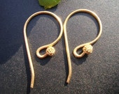 3 pairs - Bali Artisans 24k Vermeil Fancy French Earwire with cluster  beads - EW-0010