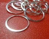 6% off 16 pcs, 18mm, 19 Gauge ga g, Sterling Silver Handmade Circle, eternity, infinity, halo, Link - - Great for Macrame bracelet