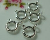 5, 10, 20 pcs, 6mm, Sterling Silver Closed Spring Ring Clasps
