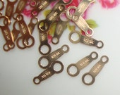 14K Gold Filled Japanese Quality Tag, 8x3mm, 40 pcs