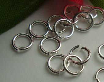 Handmade Sterling Silver open Jump Ring Spacer, 6mm, 22 ga gauge - 6jo22