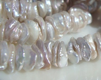 25% off, 1/2 Strand - 7-9mm - Top Qaulity --  Very very Lustrous Genuine Keshi Fresh Water Pearls