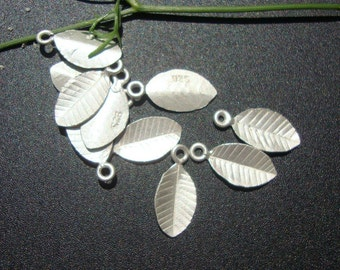 925 Sterling Silver Tiny Leaf, Sale, 6% off 36 pcs - Great for Stamping, Charm